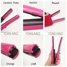Catokan Portable jual catokan portable cordless hair iron catokan rambut plat besar