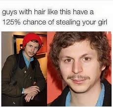 Michael Cera Meme - michael cera guys with hair like this have a 125 chance of