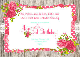 Design For Birthday Invitation Card Jaw Dropping Tea Party Birthday Invitations Which Is Viral Today