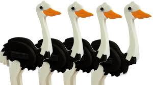 diy how to make 3d ostrich bird bird making craft for kids