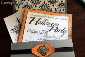diy halloween party invitations for the non scrapbooking non