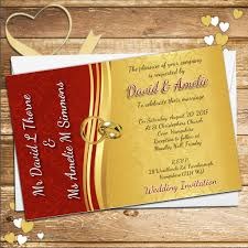scroll wedding invitations 10 personalised and gold scroll wedding invitations day