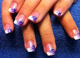 nail designs for prom purple galaxy nail