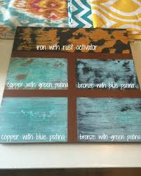 diy faux metal letters patina paint masters and metal letters