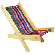 Multi Coloured Chairs by Toy Wood Beach Folding Chair Glitter Multicolor Stripe Fabric