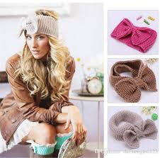 crochet bands hot sale fashion knit crochet headbands bow style crocheted hair