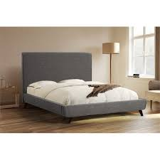 King Upholstered Platform Bed Abbyson Living Eliott King Upholstered Platform Bed In Charcoal