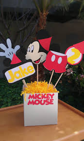 mickey mouse center pieces diy mickey mouse birthday party decorations image inspiration of
