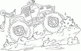 pictures monster trucks color coloring pages free