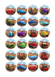 cars cake toppers 24x disney pixar cars edible cake toppers birthday