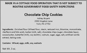 cottage food labeling resources bakecalc