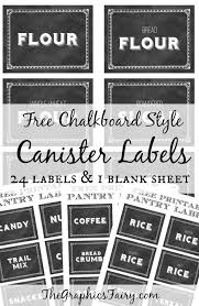 labels for kitchen canisters printable canister labels chalkboards organizing and graphics