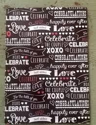 chalkboard wrapping paper chalkboard wedding gift wrapping paper chalkboard congratulations