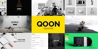 theme bureau qoon creative portfolio agency theme by orangeidea