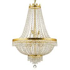 Lights Chandelier Gallery Empire Style 4 Light Gold Chandelier Free Shipping Today