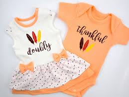 thanksgiving infant headbands boy twin first thanksgiving twins doubly