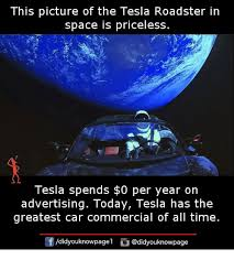 Meme Space - this picture of the tesla roadster in space is priceless tesla