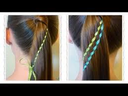 ribbon ponytail waterfall twist ribbon braid ponytail hairstyles