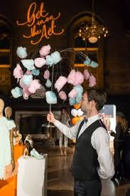 funnel cakes were attached to parasols at ted baker u0027s new york