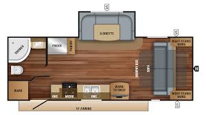Jayco Travel Trailers Floor Plans by New 2018 Jayco Jay Feather 23rbm 8568