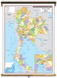 Map Of Thailand Thailand Political Educational Wall Map From Academia Maps
