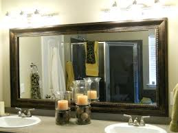 Large Framed Bathroom Mirror Bathroom Mirror With Frame Northlight Co