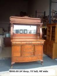 Antique White Buffet Server by Antique Serpentine Oak Buffet Server 325 00 Measurements 48