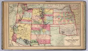 New Mexico State Map by Utah Arizona New Mexico Kansas Colorado And Indian Territory