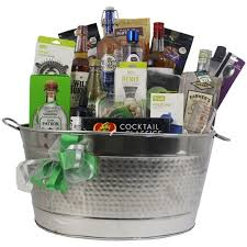 liquor gift baskets gift basket experts complete open bar cocktails gift basket