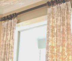 easy no sew drop cloth curtains with pleats u2013 lemons to lovelys