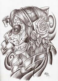 19 best day of the dead tattoo drawings images on pinterest