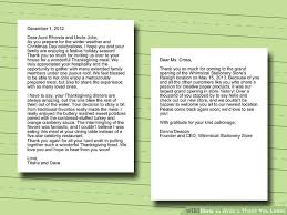 how to write a thank you letter with sle letters wikihow