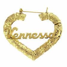 name hoop earrings heart shaped name hoop earrings in sterling silver with 24k gold