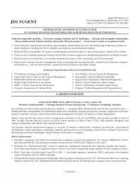 sample resume corporate executive