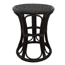 round stool tom color black handmade eco friendly materials