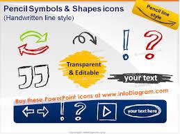 handdrawn powerpoint arrows symbols pencil sketch signs doodles