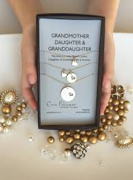 grandmother and granddaughter necklaces 14k gold grandmother necklace set erin pelicano