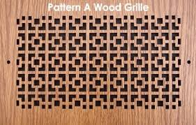 Decorative Wall Return Air Grille Wood Vent Grille Pattern