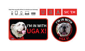 uga alumni sticker get in with uga x