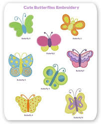 butterflies embroidery layout