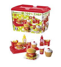 jeux de cuisine service ecoiffier dînette cuisine 100 chef hamburger jeux jouets de