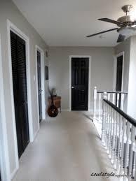 black interior doors pewter walls white door frames wonder how