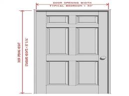 standard bedroom door size mattress