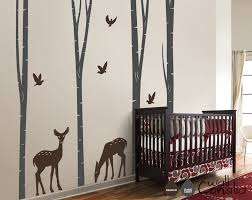 Nursery Wall Tree Decals Baby Nursery Wall Decals Birch Trees Decal Tree Wall Decal