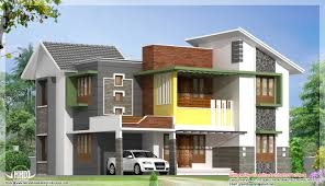 3d front elevation com beautiful modern contemporary house