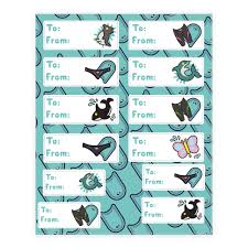 anime wrapping paper swimming anime mascot gift tags sticker lookhuman