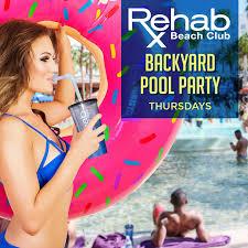 rehab rehab beach club backyard pool party