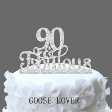 90th birthday cakes 90th and fabulous cake topper 90th birthday party decoration