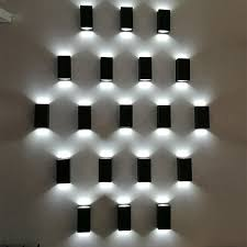 pattern wall lights 6w square indoor outdoor waterproof led wall l sconce for gate
