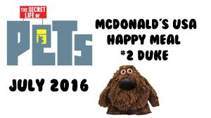 mcdonald u0027s happy meal secret life of pets usa 2016 2 duke w